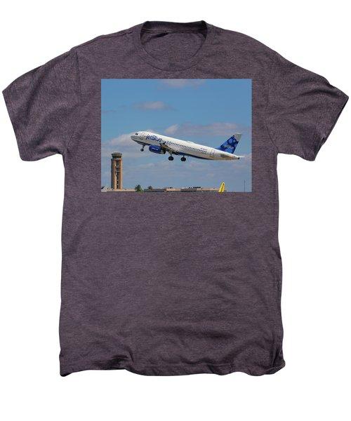 N625jb Jetblue At Fll Men's Premium T-Shirt