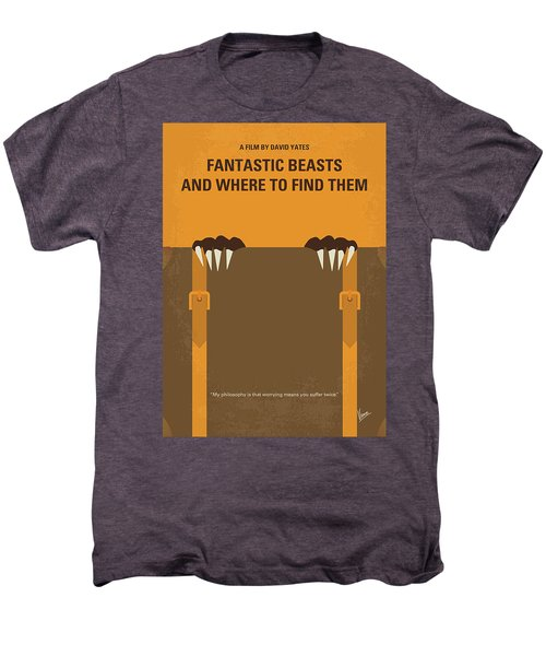 No962 My Fantastic Beasts And Where To Find Them Minimal Movie Poster Men's Premium T-Shirt