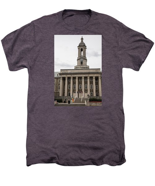 Old Main Penn State From Front  Men's Premium T-Shirt by John McGraw