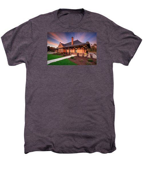 Old Train Station Men's Premium T-Shirt