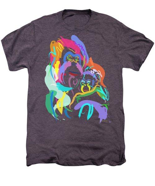 Orangutan Mom And Baby Men's Premium T-Shirt