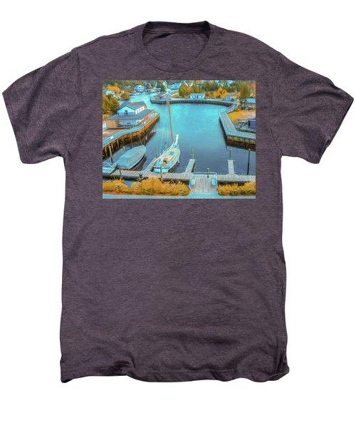 Painterly Tuckerton Seaport Men's Premium T-Shirt