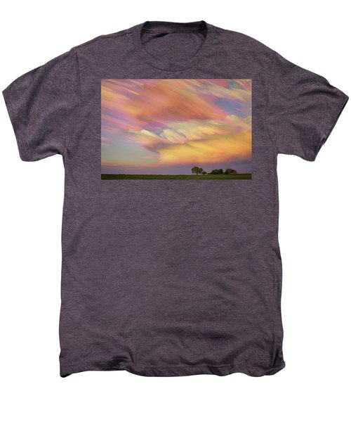 Men's Premium T-Shirt featuring the photograph Pastel Painted Big Country Sky by James BO Insogna