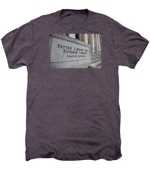 Paterno Library At Penn State  Men's Premium T-Shirt by John McGraw
