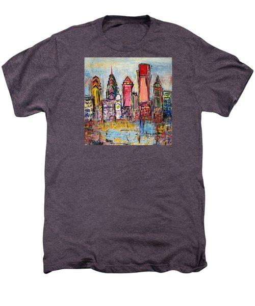 Philadelphia Skyline 232 1 Men's Premium T-Shirt by Mawra Tahreem