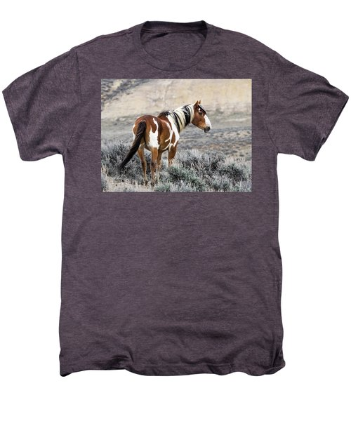 Picasso - Wild Mustang Stallion Of Sand Wash Basin Men's Premium T-Shirt