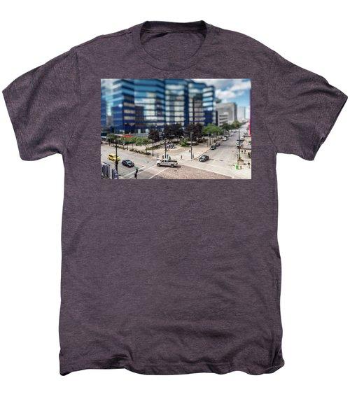 Pick-up Truck In The Itty-bitty-city Men's Premium T-Shirt