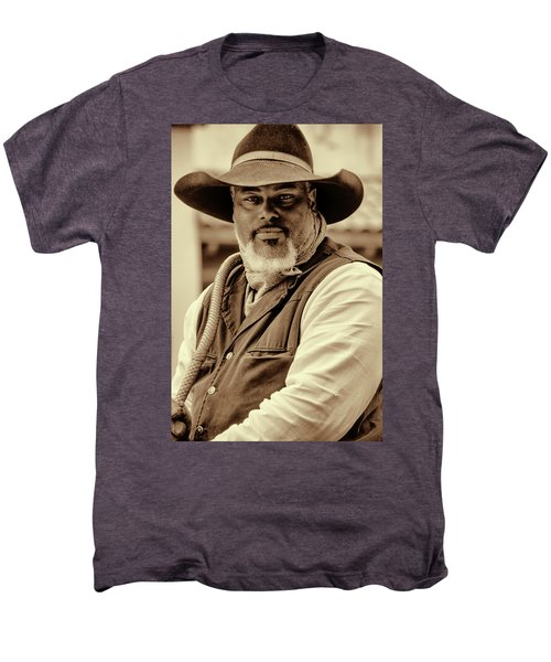Piercing Eyes Of The Cowboy Men's Premium T-Shirt