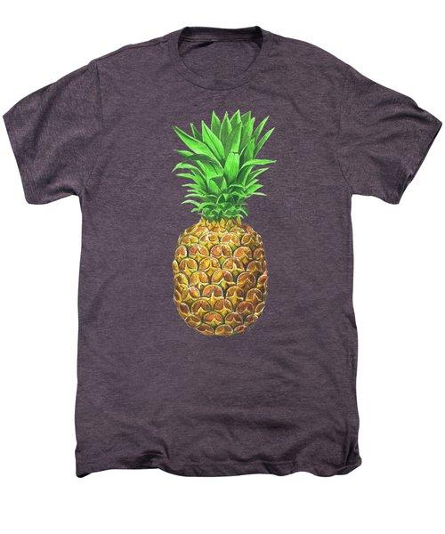 Pineapple, Tropical Fruit Men's Premium T-Shirt by Katerina Kirilova