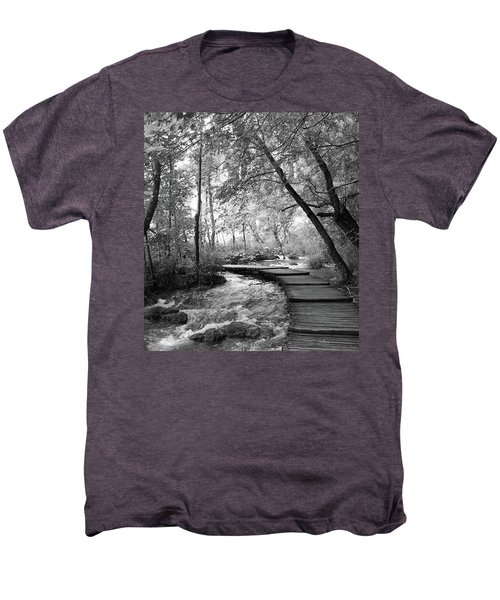 Plitvice In Black And White Men's Premium T-Shirt