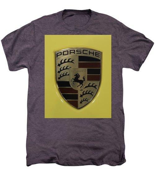 Porsche Emblem On Racing Yellow Men's Premium T-Shirt