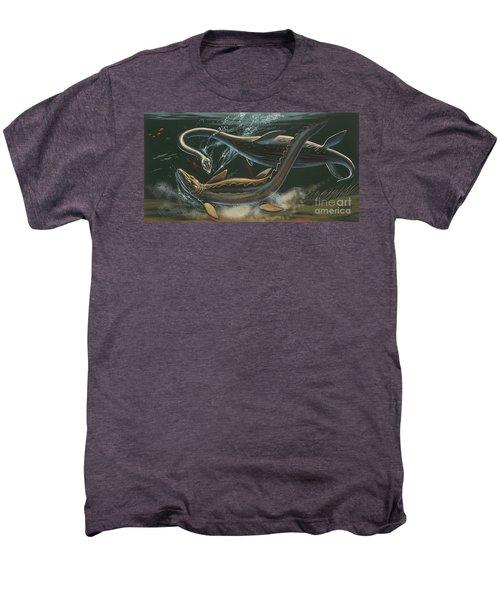 Prehistoric Marine Animals, Underwater View Men's Premium T-Shirt