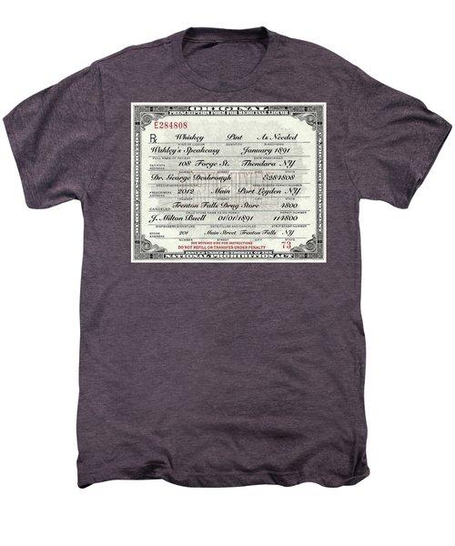 Men's Premium T-Shirt featuring the photograph Prohibition Prescription Certificate Speakeasy by David Patterson