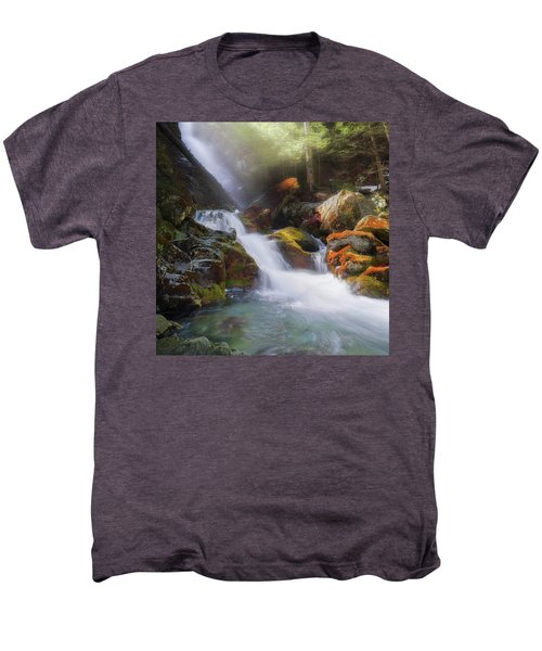 Men's Premium T-Shirt featuring the photograph Race Brook Falls 2017 Square by Bill Wakeley