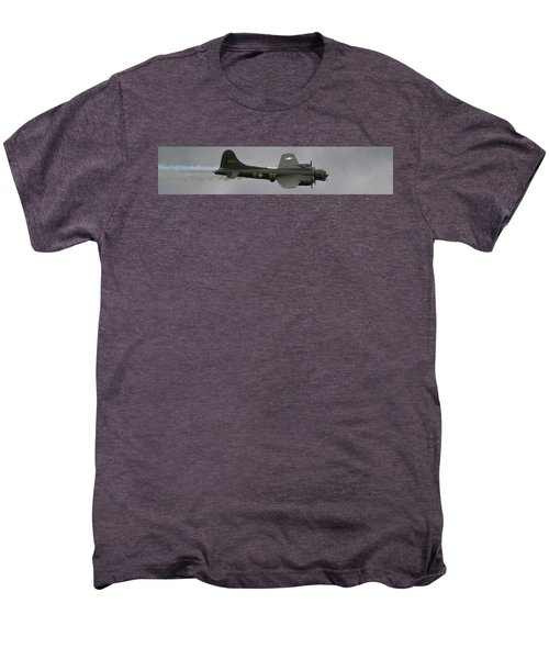 Raf Scampton 2017 - B-17 Flying Fortress Sally B Smoke Men's Premium T-Shirt