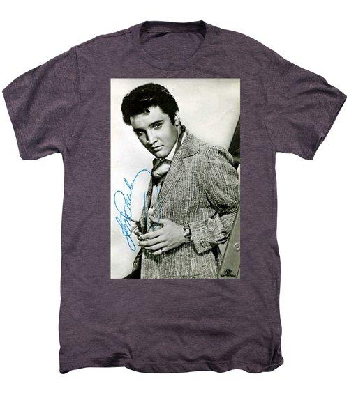 Rare Elvis Autographed Print Men's Premium T-Shirt