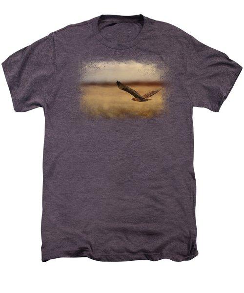 Redtail In The Field Men's Premium T-Shirt by Jai Johnson