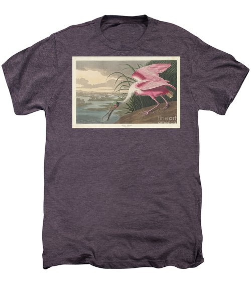 Roseate Spoonbill, 1836  Men's Premium T-Shirt by John James Audubon