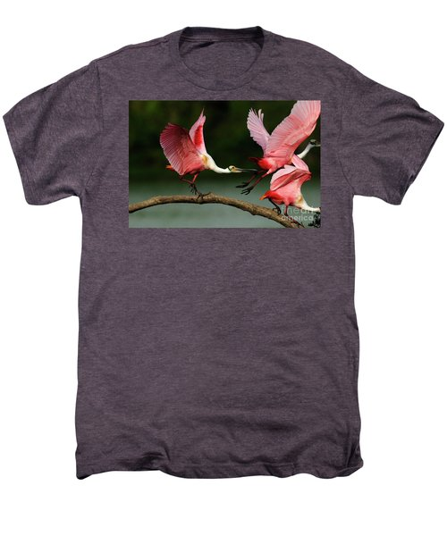 Rosiette Spoonbills Lord Of The Branch Men's Premium T-Shirt by Bob Christopher