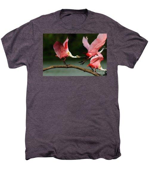 Rosiette Spoonbills Lord Of The Branch Men's Premium T-Shirt