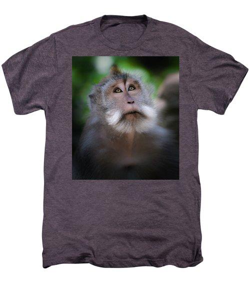 Sacred Monkey Forest Sanctuary Men's Premium T-Shirt by Larry Marshall
