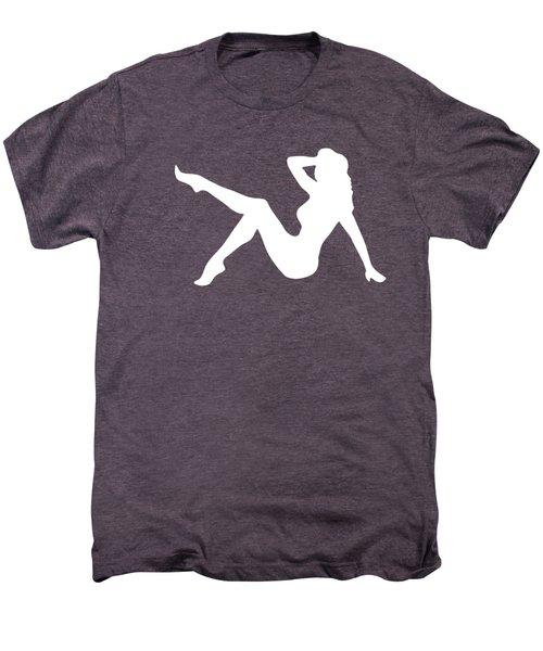 Sexy Trucker Girl White Tee Men's Premium T-Shirt by Edward Fielding