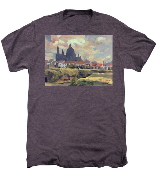 Silhouet Saint Lambertus Church Maastricht Men's Premium T-Shirt