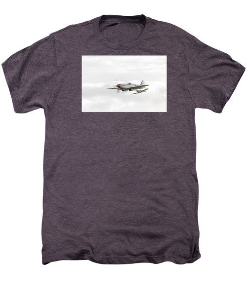 Silver Spitfire In A Cloudy Sky Men's Premium T-Shirt