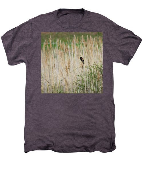 Men's Premium T-Shirt featuring the photograph Sing For Spring Square by Bill Wakeley
