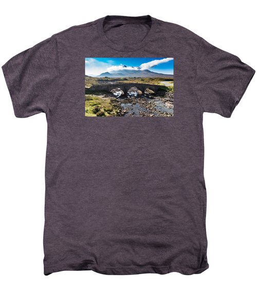Men's Premium T-Shirt featuring the photograph Skye Cuillin From Sligachan by Gary Eason