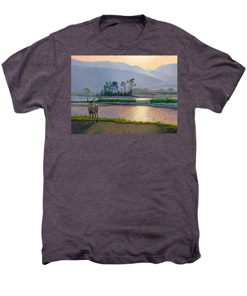 Smoky Morning Glitter Men's Premium T-Shirt by Paul Krapf