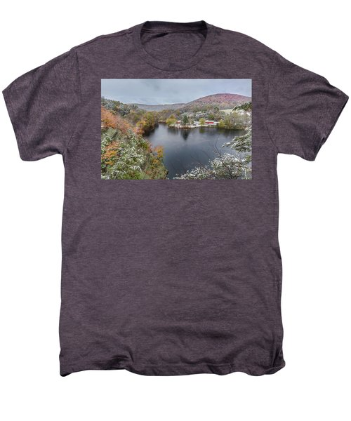 Men's Premium T-Shirt featuring the photograph Snowliage by Bill Wakeley