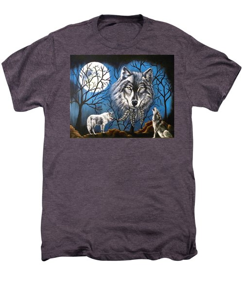 Spirit Wolf Men's Premium T-Shirt