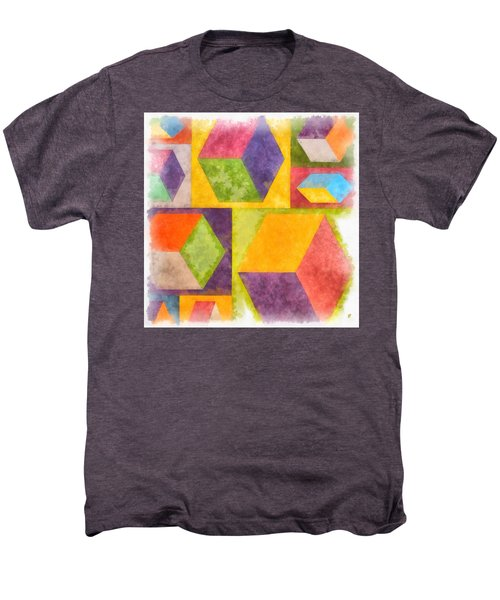 Square Cubes Abstract Men's Premium T-Shirt
