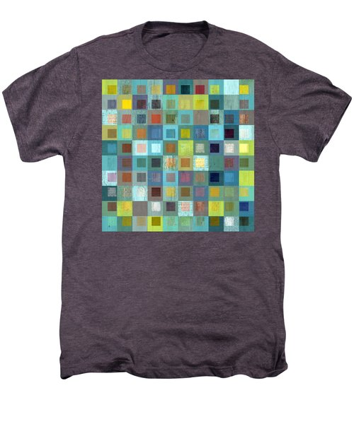 Men's Premium T-Shirt featuring the digital art Squares In Squares Two by Michelle Calkins