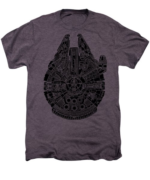 Star Wars Art - Millennium Falcon - Black Men's Premium T-Shirt