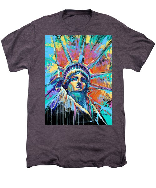 Statue Of Liberty New York Art Usa Men's Premium T-Shirt