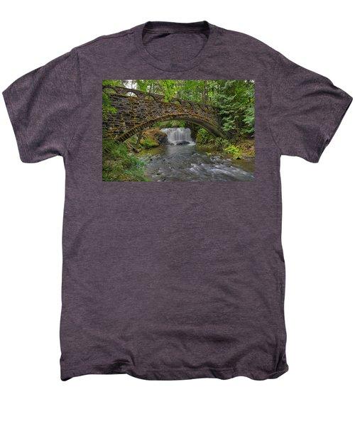 Stone Bridge At Whatcom Falls Park Men's Premium T-Shirt