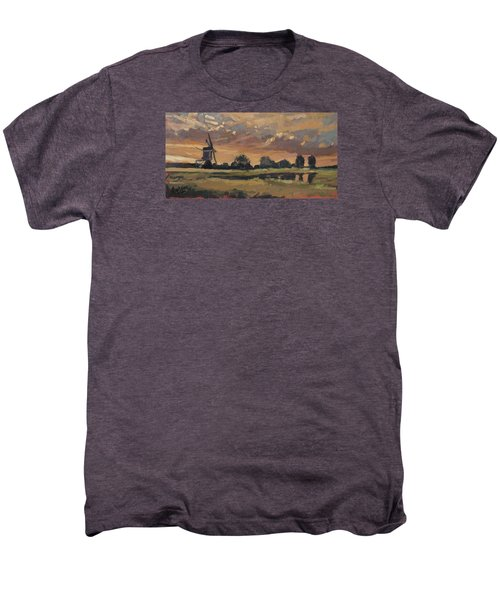 Summer Evening In The Polder Men's Premium T-Shirt