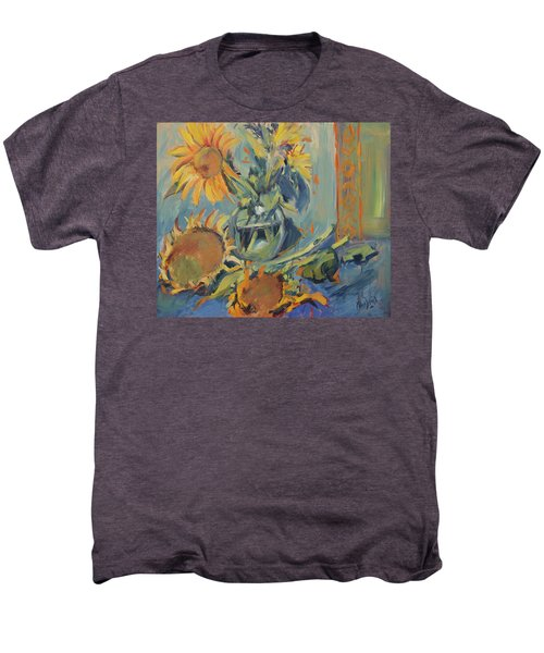 Sunflowers Fresh And Dried With Vase Men's Premium T-Shirt