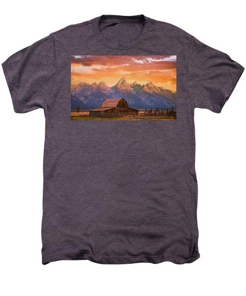 Sunrise On The Ranch Men's Premium T-Shirt