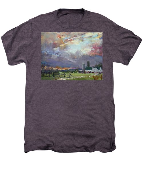 Sunset In A Troubled Weather Men's Premium T-Shirt
