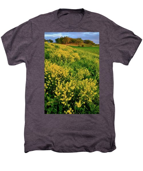 Sunset On Wildflowers In Glacial Park Mccd Men's Premium T-Shirt
