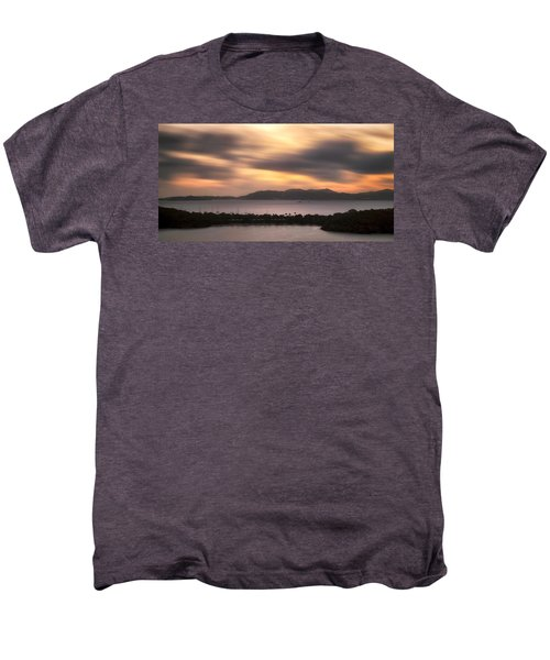 Men's Premium T-Shirt featuring the photograph Sunset Over St. John And St. Thomas Panoramic by Adam Romanowicz
