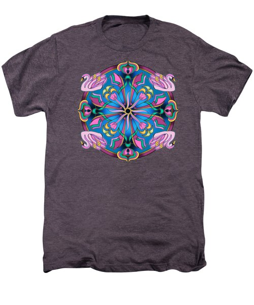 Swans Of Pink Men's Premium T-Shirt by Mickey Flodin