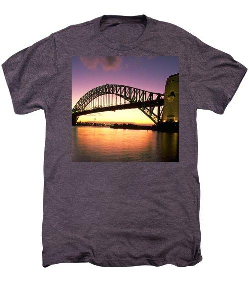 Sydney Harbour Bridge Men's Premium T-Shirt by Travel Pics