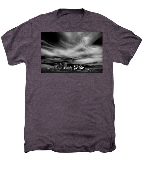 Sydney Skyline With Dramatic Sky Men's Premium T-Shirt by Avalon Fine Art Photography