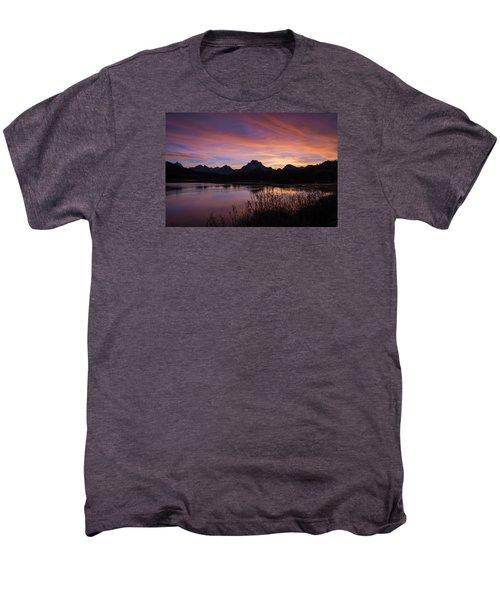 Men's Premium T-Shirt featuring the photograph Teton Sunset by Gary Lengyel