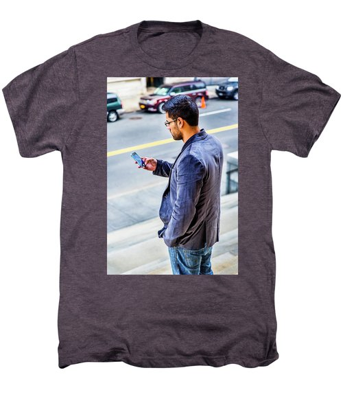 Man Texting Men's Premium T-Shirt