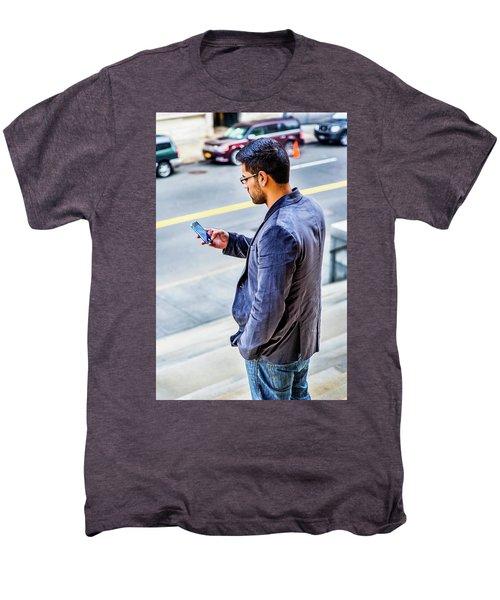 Man Texting Men's Premium T-Shirt